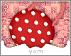 Y{ Red Polka Dot Purse }
