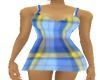schots blue dress