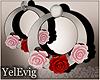 [Y] Roses silver earring