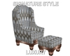 Highback Chair w/Ottoman