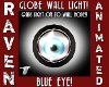 WALL LIGHT BLUE EYE!