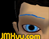 !JMXvu! Blue Eyebrows