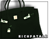 RF | Leather Tote-Forest