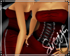 !S! Corset Dress Red