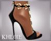 K blackn gold heels