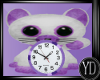 Baby cat clock