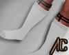 (A) Garter Socks White