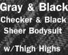 BlkGray Sheer&CheckerFit
