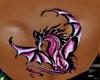 Lady Dragon Back Tattoo