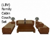 (LBV) Fam Cab Couch set