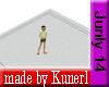 !K! White Square Rug