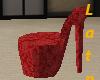 (A) Red high heel chair
