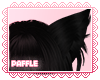 P| Fox Ears Black