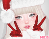 d. xmas red gloves