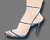G | Blue Batik Heels