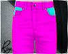 Fuschia Neon Jeans