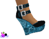 wedge heel blue