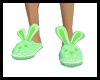 Bunny Slippers-green