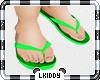 Sandals Green Kids