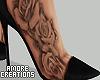 $ Black Heels + Tattoo