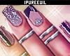 !! Glitter Nails + Rings