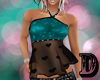 D Teal Hearts Blouse