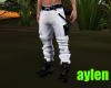 pants white and black