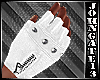 - Zipped White Gloves -