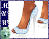 Blue Plaid Pumps