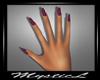 Purple shine nails