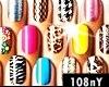 black nails glitter 3
