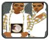 [CG123]White Plaid Hoodi