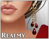 [R] Kiara Earrings - Red