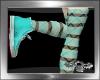 ~a~ Fishnets - Cyan M