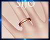 S| Thin Ring - Rose Gold