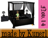 ^KK^Blk. Canopy Bed