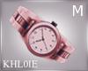k al pink watch