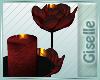 Dark Rose Candles