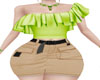 *HC* Green Ruffled Top