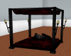 Crimson Goth Canopy Bed