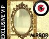 Golden leaf mirror