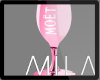 MB: MOET PINK GLASS LH