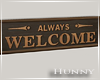H. Framed Welcome NW