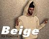 Beige Hooded