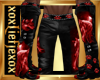 [L] WOLF Red Pants M
