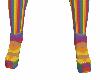 Rainbow Strapped Heels