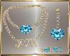 Teal Jewelry Set