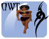 QWT Satin Slave Purple