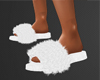 FUZZY WHITE SLIPPERS