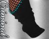 Blk /Teal Spiked Socks